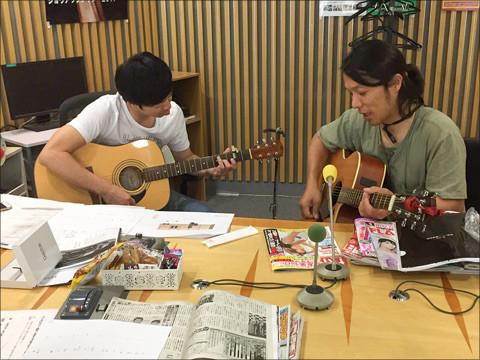 ニッポン放送ラジオ番組でQactusを使用した生演奏の様子