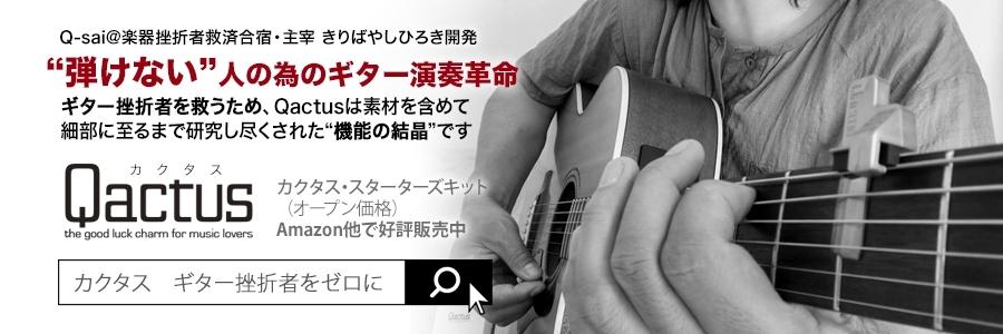 Qactus カクタス ギター 挫折者 未経験者 初心者 弾ける
