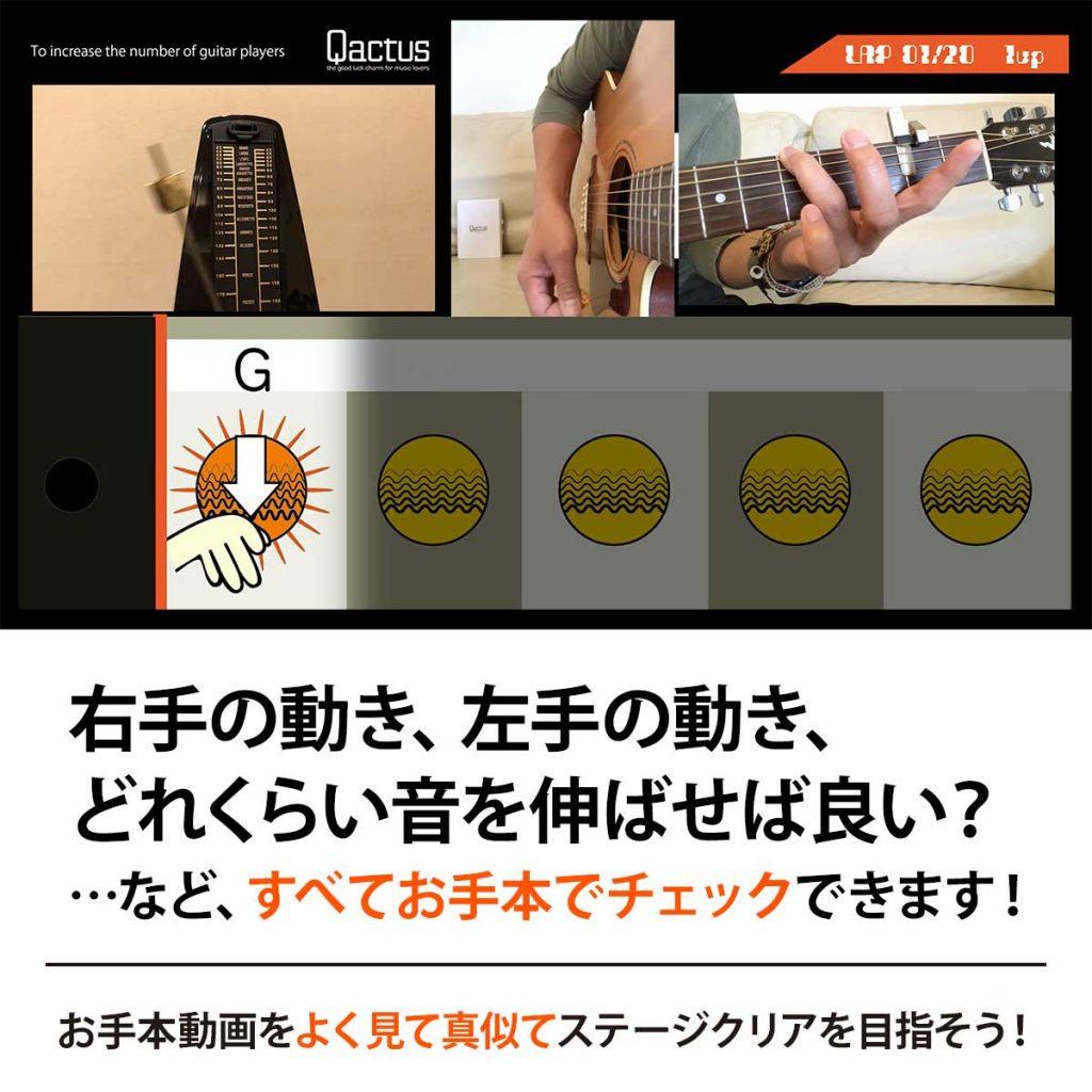 """Qactusでギター上達を目指すTrial-16のイメージ"""