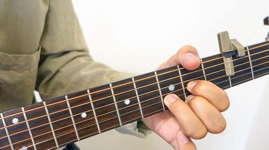 カクタス ギター 軸指 運指 フォーム